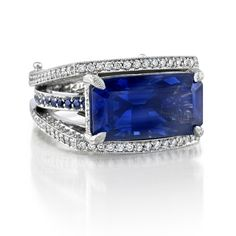 Omi Prive: Sapphire and Diamond Ring
