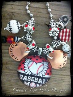 Baseball Mom Charm Necklace