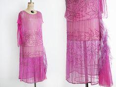 1920 jurk / Vintage 20s jurk / Flapper jurk / Art Deco jurk / Beaded jurk / size…
