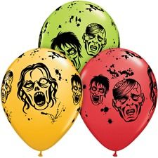 Halloween Balloons: Zombies 5pk Latex Party Supplies Canada & Halloween Supplies Canada - Open A Party