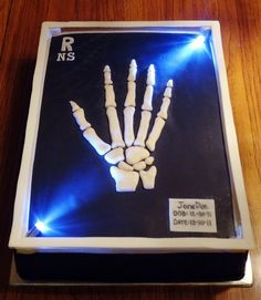 XRay Cake!! What a great cake to serve on the final day of NRTW. The entire department can  come together, relax, receive awards and  celebrate between themselves to close a week that is set aside for them.