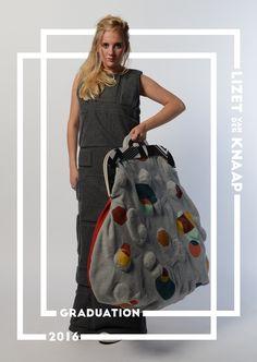 LIZET VAN DER KNAAP GRADUATION 2016 3d Prints, Fabric Manipulation, Feminine, Textiles, Embroidery, Knitting, Crochet, Collection, Baskets
