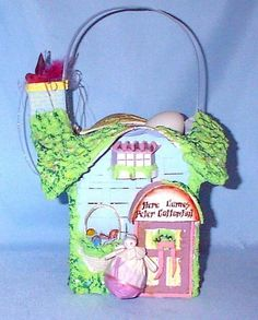 Vintage Peter Rabbit Basket House Music Box by annimae182 on Etsy, $60.00