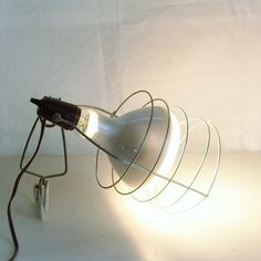 Vintage industrial cage light work or spot light by trendybindi, $40.00 #home decor #lighting