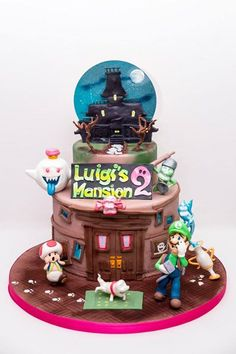 Il mondo del cake design incontra quello dei video games. Sei torte raccontano Luigi's Mansion 2 - Nintendo. Foto e torta di Laura de Le torte di Laly (via degli eroi 6, 36050 Quinto Vicentino)