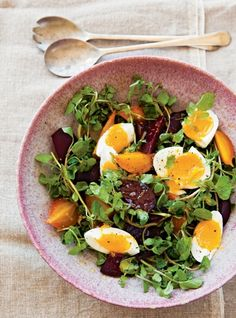 Beet and Watercress Salad. What to do with leftover Easter eggs!