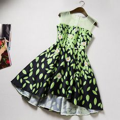 Fashion Round Neck Sleeveless Dress #13106AD