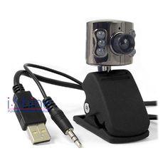 5MP USB Mic PC Webcam Web Camera with 6 LED