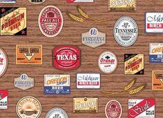 Tecido Rótulo Cerveja - Boutique do Patchwork