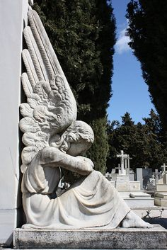 Angels Beyond the Grave by Angel Armendariz #sculptures #cemeteries