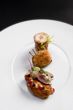 Lapin @ Le Cinq = pinned for plating idea