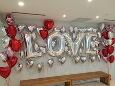Valentine's Day event decorate with LOVE back wall balloon by www.DreamARKEvents.com #valentinesday #valentines #valentinesdecoration #valentineswall #vanentinesbackwall #love #hearts #valentinesballoons #valentinesgift #valentinesdecor