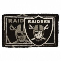 "30"" Oakland Raiders NFL Football Authentic Logo Indoor Outdoor Welcome Mat by Evergreen. $54.99. Oakland Raiders Welcome MatItem #0007L808OFFICIALLY LICENSED MERCHANDISEWelcome mat features the authentic logo for the Oakland Raiders professional football team in brightly colored natural fibersFor indoor and outdoor use Dimensions: 18""L x 30""W x 1""H Material(s): Natural fiber"
