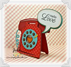 Card telephone call me ring phone Miss Kate Cuttables: Hello Love!