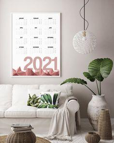 Geometric Calendar 2021 in Terracotta Red 2021 Calendar Art   Etsy Abstract Geometric Art, Abstract Shapes, Modern Artwork, Modern Prints, Large Wall Calendar, Yellow Artwork, Art Deco Decor, 2021 Calendar, Types Of Art