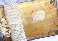 Wedding Photo Album  Gold vintage shabby by youruniquescrapbook, £55.00