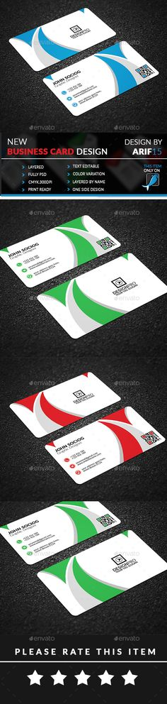 #Business #Card - Corporate Business Cards Download here: https://graphicriver.net/item/business-card/19897928?ref=alena994