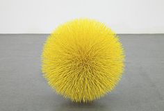Yellow sphere sculpture Tom Friedman: 'untitled (sun)', 2012 wood, styrofoam and paint Contemporary Sculpture, Contemporary Art, Abstract Sculpture, Sculpture Art, Tom Friedman, Wow Art, Mellow Yellow, Yellow Art, Bright Yellow
