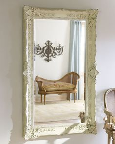 """Antique White"" Mirror at Horchow."