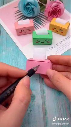 Diy Crafts Hacks, Diy Crafts For Gifts, Diy Home Crafts, Jar Crafts, Crafts For Kids, Cool Paper Crafts, Paper Crafts Origami, 5 Minute Crafts Videos, Craft Videos