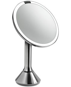 $150 with 25% coupon at brookstone simplehuman Lighted Sensor-Activated Magnifying Vanity Makeup Mirror