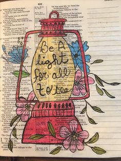 Be a light for all to see.  #biblejournaling