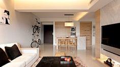 Moderna decoración minimalista con un flujo Homey
