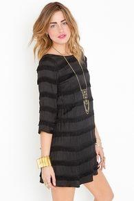 Blackout Fringe Dress