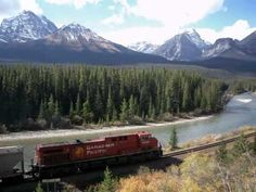 The Canadian Pacific Railway (CPR; AAR reporting marks CP, CPAA, CPI), known as CP Rail between 1968 and is a Canadian Class I railway operated by Cana. Canadian Pacific Railway, Canadian Rockies, Banff National Park, National Parks, Scenic Train Rides, Mountain Pictures, Train Journey, By Train, Travel And Tourism