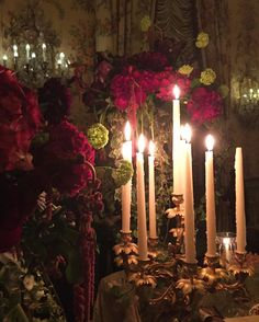 Beautiful Candles and flowers from last night #palazzodoriapamphilj #valentino #rome #inspiration