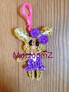 Rainbow Loom Bunny Keychain (MarloomZ Creations )