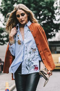 Embroidered shirt   [ #oliviapalermo #embroidery ]