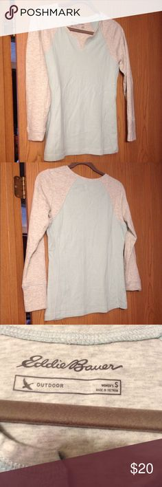 New Listing Eddie Bauer Sweatshirt Breathable sweatshirt aquamarine & gray. New w/o tags Eddie Bauer Tops Sweatshirts & Hoodies