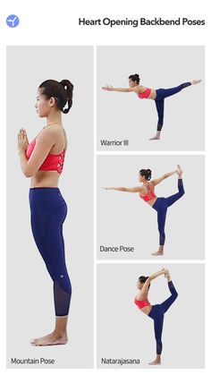 Natarajasana is one of the most difficult poses in Heart Opening Backbend Program. If you want to make a beautiful natarajasana, you can start from these 3 poses. Free Yoga Classes, Yoga For You, Different Types Of Yoga, Daily Yoga, Yoga Tips, Yoga For Beginners, Asana, Yoga Meditation, Yoga Fitness