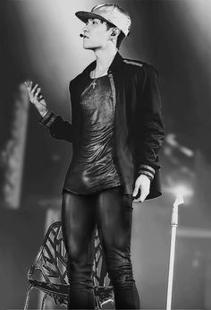 Lay Oppa in leather pants....one more thing off my fangirl bucket list.
