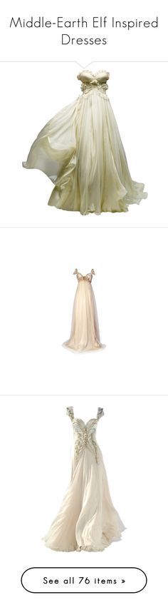 """Middle-Earth Elf Inspired Dresses"" by saphira-dm ❤ liked on Polyvore featuring dresses, gowns, vestidos, long dress, long dresses, pink ball gown, long pink dress, pink evening dress, pink gown and pink dress"
