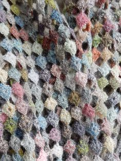 """""""Rikiki"""" scarf - Sophie Digard crochet-----*Small squares joined sideways will give you this look."""