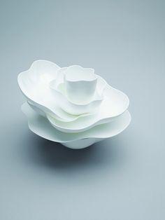 Bodo Sperlein by Nikko Ceramics, Inc. I really like the delicate soft forms Ceramic Tableware, Glass Ceramic, Ceramic Clay, Ceramic Pottery, Earthenware, Stoneware, Nikko, Organic Ceramics, Cup Art