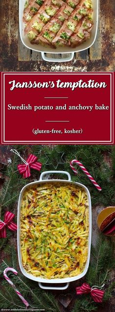 Jansson's temptation,a potato and anchovy bake, is a Swedish comfort food classic and one of their most beloved Christmas staples. It is as easy as it is delicious - this is not the time to scrimp on butter and cream!