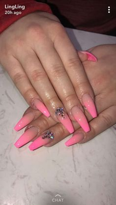Top acrylic nail designs of july 2019 - page 23 142 Sexy Nails, Trendy Nails, Love Nails, Pink Nails, Acrylic Nail Designs, Nail Art Designs, Acrylic Nails, Coffin Nails, Stiletto Nails
