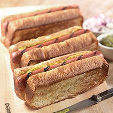 New England Style Hot Dog Buns I love these---why hasn't anyone else caught on?-I didn't know there was any other kind until I was an adult!