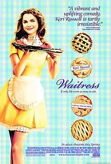 WAITRESS (Keri Russell, Nathan Filion, Jeremy Sisto; 2007). A married waitress who is planning to leave her husband learns she is pregnant, much  to her dismay, and begins an affair with her doctor.