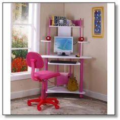 s Computer Desk online. Shop the latest collection of Kings Brand Pink Finish Corner Workstation Kids Children?s Computer Desk from the popular stores - all in one Kids Corner Desk, Kids Computer Desk, Corner Workstation, Girls Bedroom Furniture, Bedroom Desk, Home Office Furniture, Kids Furniture, Furniture Online, Colorful Furniture