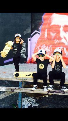 Modern hipster kids clothes