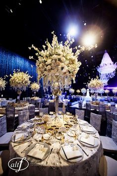 Swanky Table Setting at Las Vegas Venue