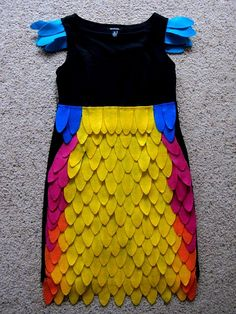 Bird costume DIY... or maybe just something fun to do with an old black dress!