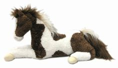 Douglas Cuddle Toy Sage Pinto Super Sized Plush Stuffed Animal Horse Toy - Shop www.HorseToysSuperstore.com for all your horse toys and gifts!