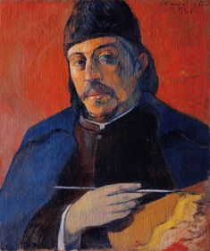Paul Gauguin, Zelfportret, 1894 Lees meer over Gauguin: http://www.artsalonholland.nl/grote-meesters-kunstgeschiedenis/paul-gauguin
