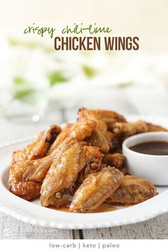 Keto Chili-Lime Crispy Chicken Wings