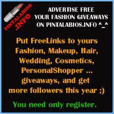PostFreeLinkOfYour #Fashion #Beauty #Giveaway onOurSite ^_^ #fbloggers #bbloggers #lbloggers http://www.pintalabios.info/en/